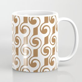 Bronze Colored Steampunk Lines and Curls Abstract  Coffee Mug