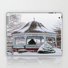 Courthouse Gazebo in the Snow Laptop & iPad Skin