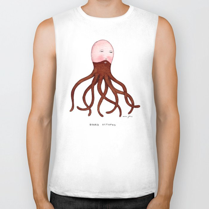 Beard Octopus Biker Tank