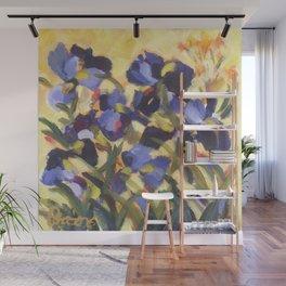 Beautiful Blue Iris Wall Mural
