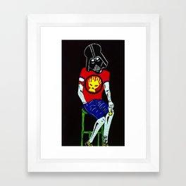 Punk Vader Framed Art Print