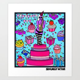 Birthday Sax Art Print