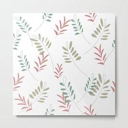 Floral Ferns Metal Print
