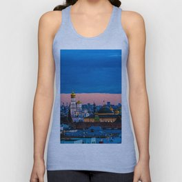 Moscow Sunset With An UFO Unisex Tank Top