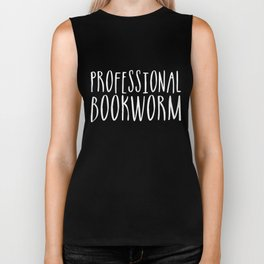 Professional bookworm - Inverted Biker Tank