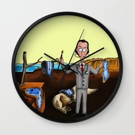 Salvador Dalí and The Persistence of Memory. Wall Clock