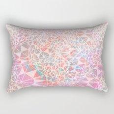 Geo batik pattern - pink Rectangular Pillow