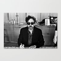 tim burton Canvas Prints featuring Tim Burton by Sergio Bastidas