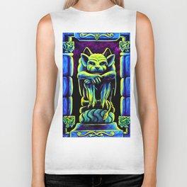Gothic Gargoyle, Trippy Psychedelic by Vincent Monaco Biker Tank