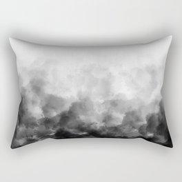 Ombre Smoke Clouds Minimal Rectangular Pillow