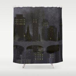 Edinburgh by night Shower Curtain