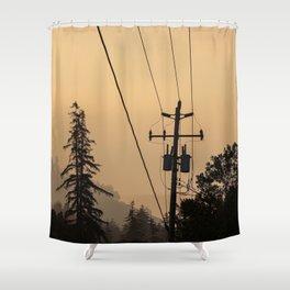 Yellow Mountain Haze Shower Curtain