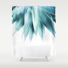 Agave geo fringe - teal Shower Curtain