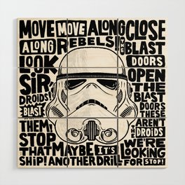 """Look Sir, Droids! - Stormtrooper"" by Matthew Taylor Wilson Wood Wall Art"