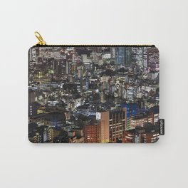 Tokyo Buildings at Night Carry-All Pouch