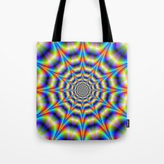 Psychedelic Wheel Tote Bag