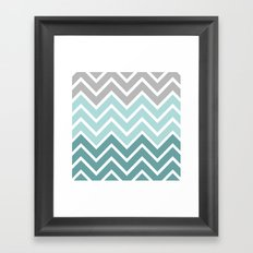 THIN BLUE FADE CHEVRON Framed Art Print