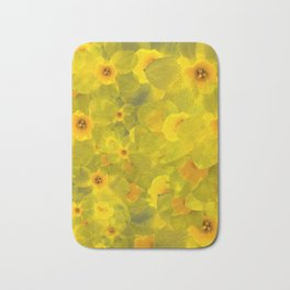 Narcissus bouquet Bath Mat