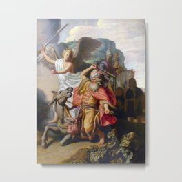 Rembrandt - Balaam and the Ass Metal Print