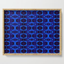 Blue shapes Serving Tray