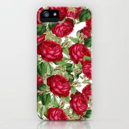 Crimson Rose Bower iPhone Case