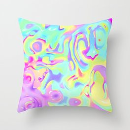 Constructive character Trippy Throw Pillow
