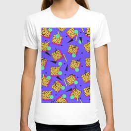 Seamless colorful pattern in retro style T-shirt