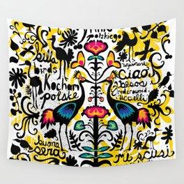 Wycinanki Folk Art Wall Tapestry