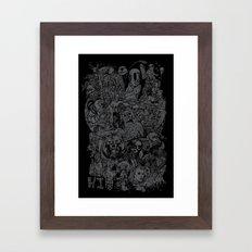 Lost Sketches Framed Art Print