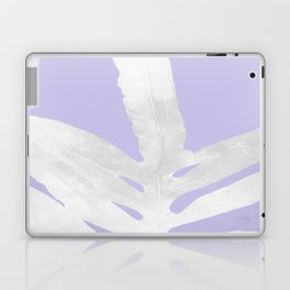Green Fern on Lavender Inverted Laptop & iPad Skin