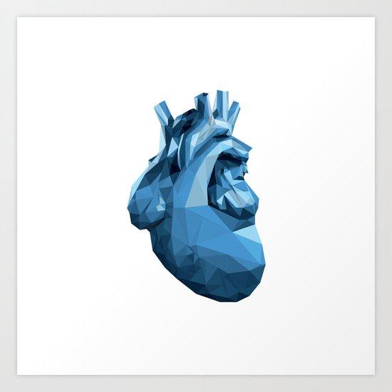 Heart - Blue Art Print