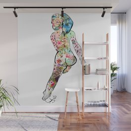 Beautiful Floral Lady Wall Mural