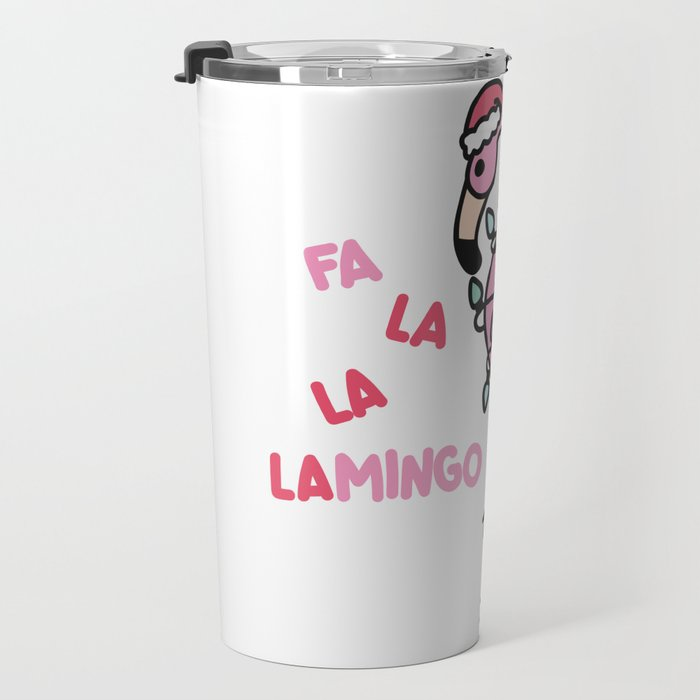 Christmas Flamingo Travel Mug