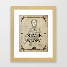 Dowager countess quotes Framed Art Print