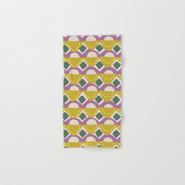 Tribal Banners Pattern in Chartreuse Hand & Bath Towel