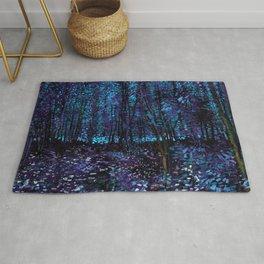 Van Gogh Trees & Underwood Indigo Turquoise Rug