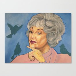 Bea and the Birds Canvas Print