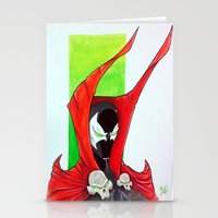 spawn Stationery Cards featuring Spawn Bust by Atom Bomb Studio