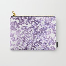 Abstract wave Purple Design Carry-All Pouch
