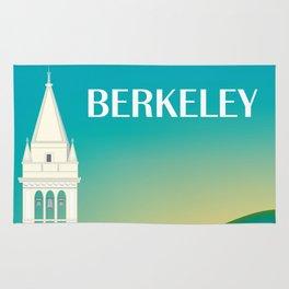 Berkeley, California - Skyline Illustration by Loose Petals Rug