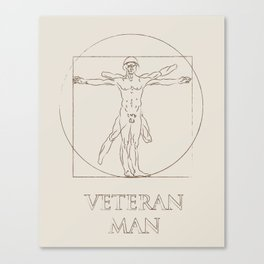 Veteran Man Canvas Print