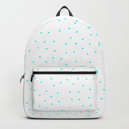 Simple Christmas seamless pattern Blue Turquoise Confetti on White Background Backpack