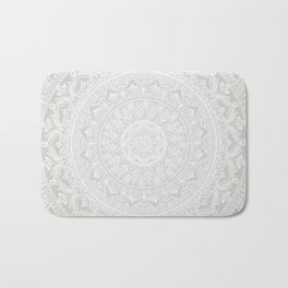 Mandala Soft Gray Bath Mat