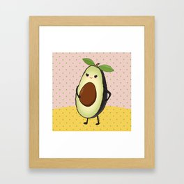 Cute avocado mom Framed Art Print