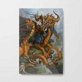 Zodiac Dragons Calendar Capricorn Metal Print