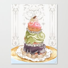 Budapest Pastry Shop Canvas Print