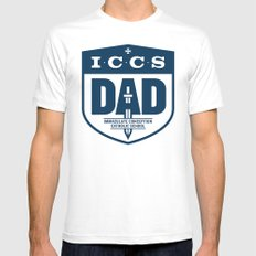 ICCS Dads White Mens Fitted Tee MEDIUM