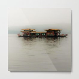 shiping in the mist Metal Print
