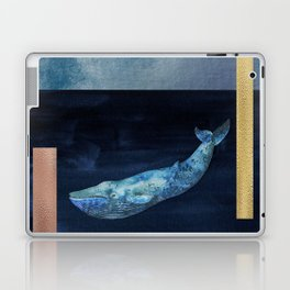 Blue Whale - Gold, Copper And Deep Blue Laptop & iPad Skin