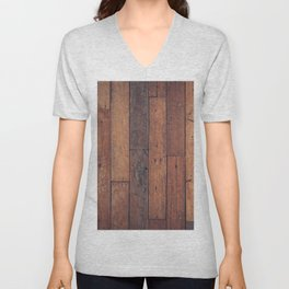 wood pattern Unisex V-Neck